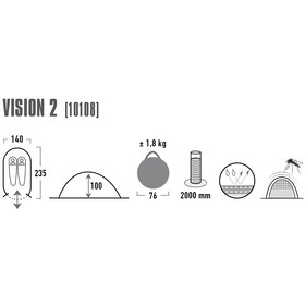 High Peak Vision 2 Tente, green/phantom